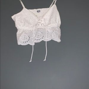 Super cute lace crop top from American eagle